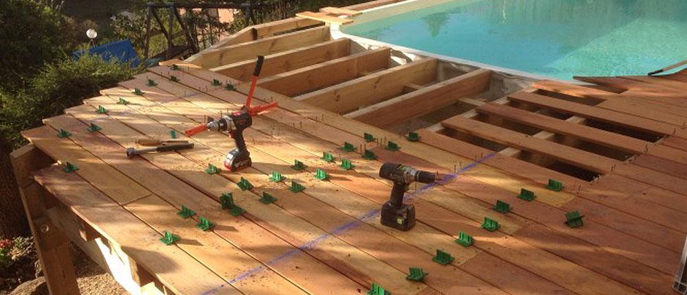 comment réaliser votre plage de piscine en bois