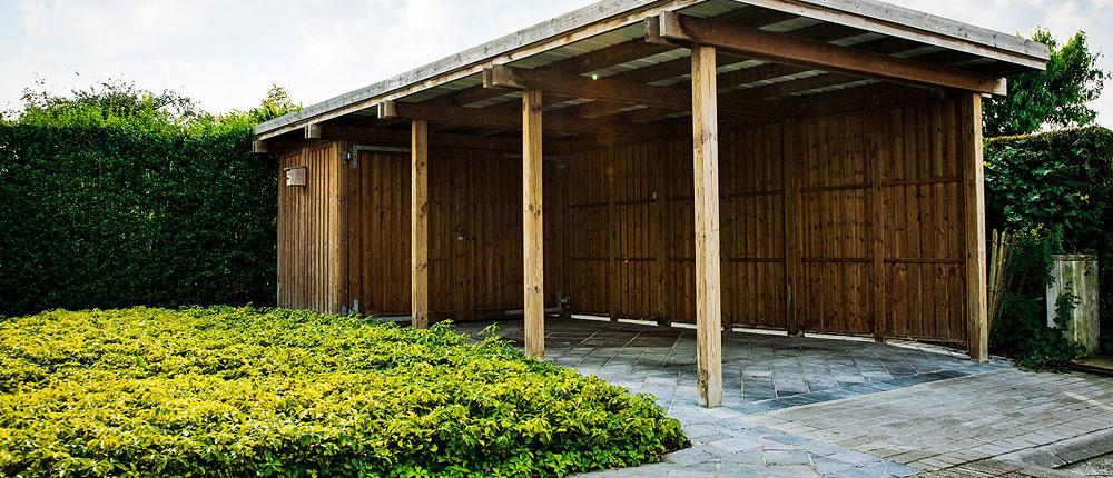 le carport amenagement exterieur bois
